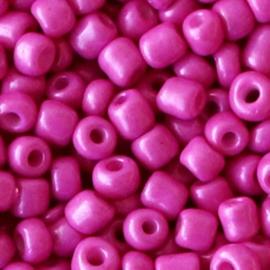 20 gram Glaskralen Rocailles 6/0 (4mm) Garnet pink-purple