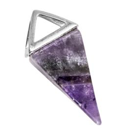 1 x Natuursteen Hanger (37 x 15 mm) Amethyst