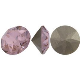 5 x Puntsteen Preciosa voor puntsteen SS29 c.a. 6mm Vintage roze