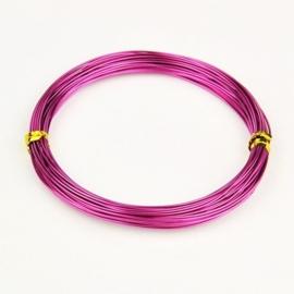 Aluminium draad 1mm dik, 10m/rol medium violet red