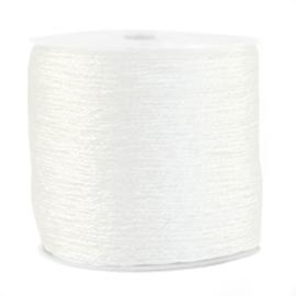 1 rol 170 meter macramé draad metallic 0.5mm White (kies voor pakketpost)