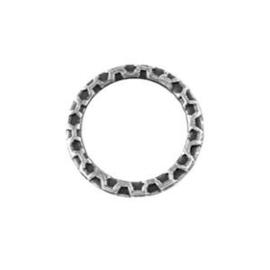 10 x Metalen Ring Tussenstuk Antiek Zilver 18.5 mm