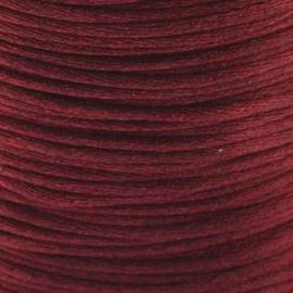 2 meter Macrame Satijndraad 1.0 mm Merlot