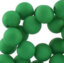 15 stuks 10 mm acryl kralen mat groen