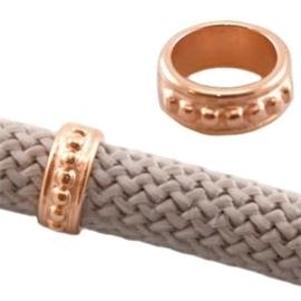 DQ metaal schuiver Rosé goud ca. 13 x 5 mm (Ø 10mm)