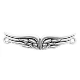 1 x Bedels DQ metaal tussenstuk wings Antiek zilver (nikkelvrij)
