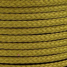 1 meter sieradenkoord c.a. 5 x 3mm kleur Wood