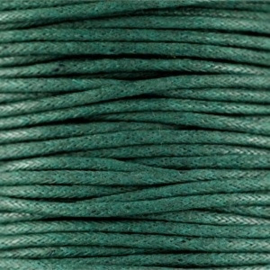 10 meter Waxkoord 1.5 mm Dark emerald green
