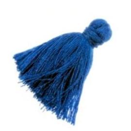 2 x  kwastje cobalt blue 3 cm