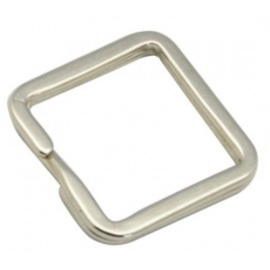 2 x prachtige sleutelhanger ring vierkant 25 x 25mm