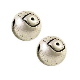5x DQ metalen kraal oog 6 mm Antiek Zilver