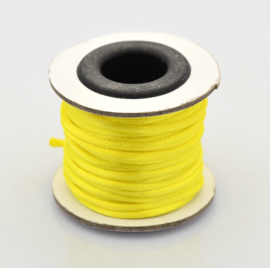 Rol met 10 meter satijn koord Nylon Marcramé koord 2mm kleur Yellow