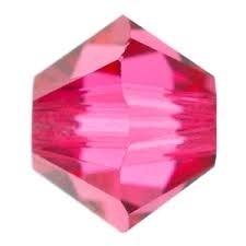 10 x Preciosa Kristal Bicone 6mm Pink