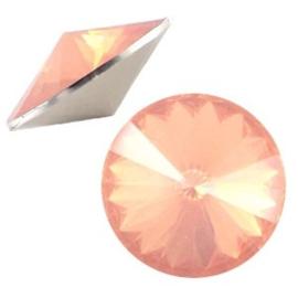 1x BQ quality 1122- Rivoli puntsteen12 mm Peach opal ca. 12 mm (1122)