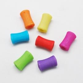 25 stuks Jelly style siliconen kralen mix 12 x 7mm gat: 3,5mm  assortiment