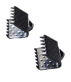 10 stuks lint of veterklemmen 6mm gunmetal  zwart zilver