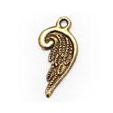 10 stuks Tibetaan zilveren engelen vleugels 20 x 10 x 1mm gat: 2mm goud kleur