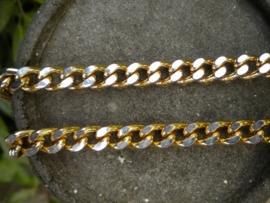 Jasseron ketting  zilver & goudkleur