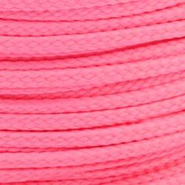 1 meter sieradenkoord c.a. 5 x 3mm kleur Pink Incarnetion