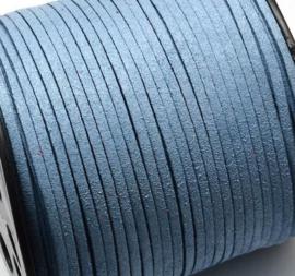 Faux suède veter, blue grey 1 meter x 3mm