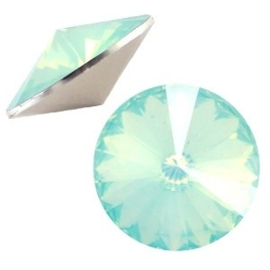 1x BQ quality 1122- Rivoli puntsteen12 mm Crysolite green opal ca. 12 mm (1122)