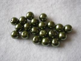 25 x prachtige glasparels 10mm Gat: 1mm kleur: groen