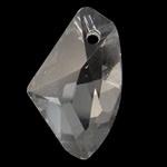 Prachtige kristal facet Hanger 12 x 19 x 5,5mm gat 0,5mm