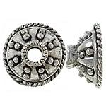 10 stuks schitterende tibetaans zilveren kralenkapjes: 13,5 x 7mm gat: 3mm