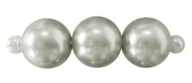 25 x prachtige glasparel kleur: Zilver 10mm