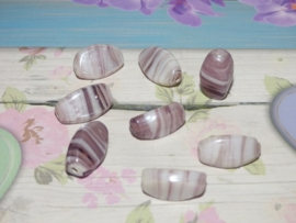 5 x High Quality Glass Hand Made Bead 120 afm. ca. 8 x 16mm