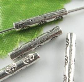 10 stuks metalen buiskralen 15mm gat c.a. 1mm