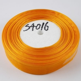 1 meter Prachtig Satijn lint 20mm oranje