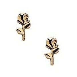 2 x Floating Charms Roos Goud 8x4 mm