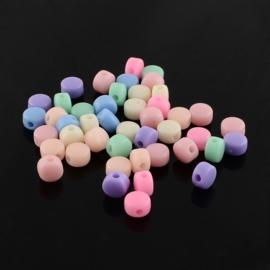 20 keer mix siliconen kralen evt. te gebruiken als tussen cijfer en letter kraal 5mm, gat 1,5 mm assortiment