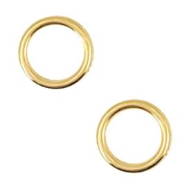 2 x Bedels DQ metaal cirkel 12mm Goud (nikkelvrij)