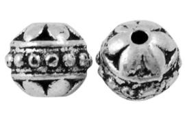 10 stuks tibetaans zilveren kraal 8mm