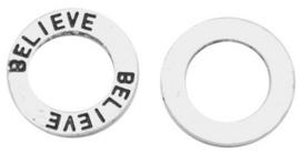 10 stuks Tibetaans zilveren gesloten ringen 14mm x 1,5mm