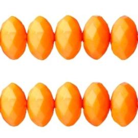 20 Stuks licht oranje acrylkralen met facet 10 x8 mm gat 1mm