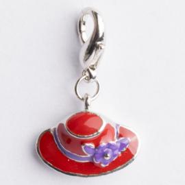 Be Charmed bedel hoedje met karabijnsluiting zilver met een rhodium laag (nikkelvrij)