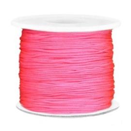 Per 2 meter Macramé draad 0.7mm Bright pink