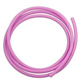 100 cm hol Rubber DQ koord 4mm per meter geknipt midden roze