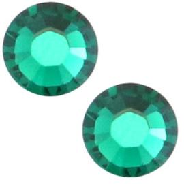 10 x Swarovski turquoise plat strass steentje 6mm