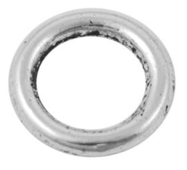 10 stuks Tibetaans zilveren gesloten ringen 12 x 2 mm gat: 8mm-