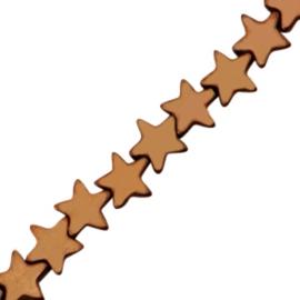 5 x Hematite kralen ster 4mm Rosegold