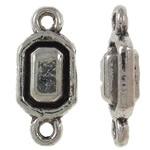 10 keer Tibetaans zilveren link 5,5 x 12 x 3mm Gat: 1mm