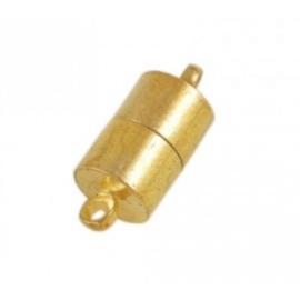 Magnetisch slotje in tube vorm. De afmeting van dit slotje is c.a.16x6 mm goudkleur