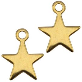 2 x Bedels DQ ster Goud ca. 15 x 12 mm