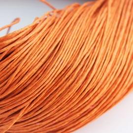 10 meter waxkoord 1,5mm dik kleur: oranje