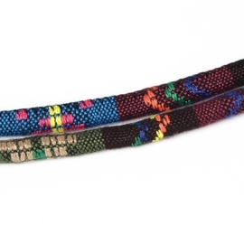 20 cm Trendy gestikt Aztec koord 6mm DodgerBlue