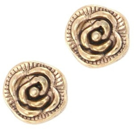 2 x Floating Charms Roos Goud 7mm